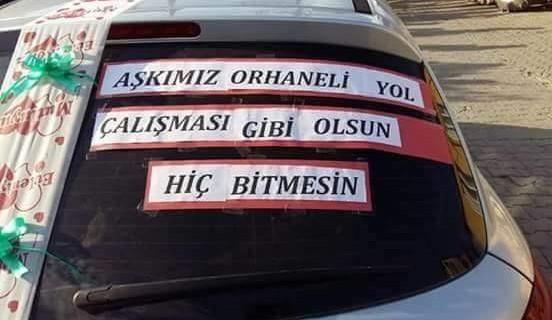 Bursa'lı damattan ilginç yol tepkisi