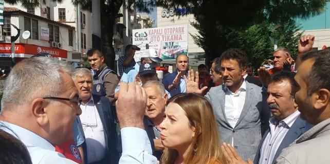 Bursa'da o eylemde arbede