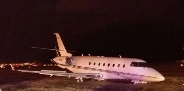 Ronaldo'nun uçağı pistten çıktı