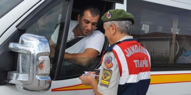 Bursa'da jandarmadan sıkı denetim...