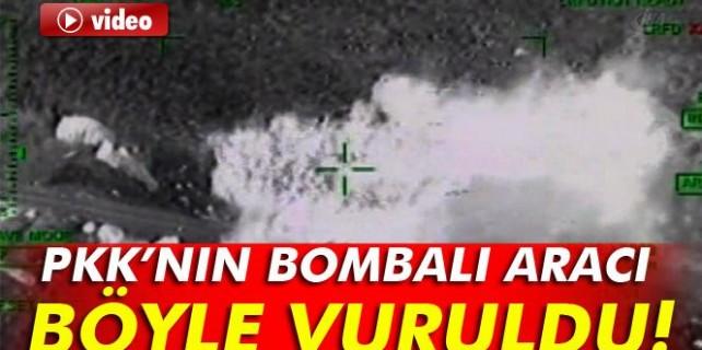 PKK'nın bombalı aracı böyle imha edildi...