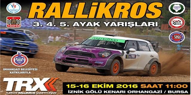 Türkiye Rallikros Şampiyonası Bursa'da yapılacak