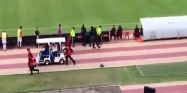Polis kovaladı, ünlü futbolcu sedyeyle kaçtı