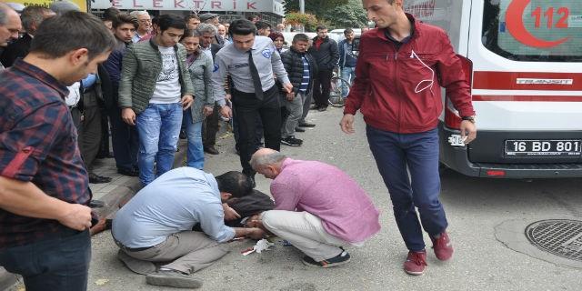 Bursa'da kaza! Çaresizce yardım bekledi