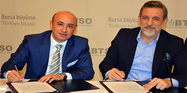 AYTO ve BTSO kardeş oda protokolü imzaladı