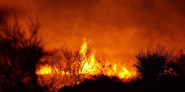 Karacabey'de korkutan yangın!