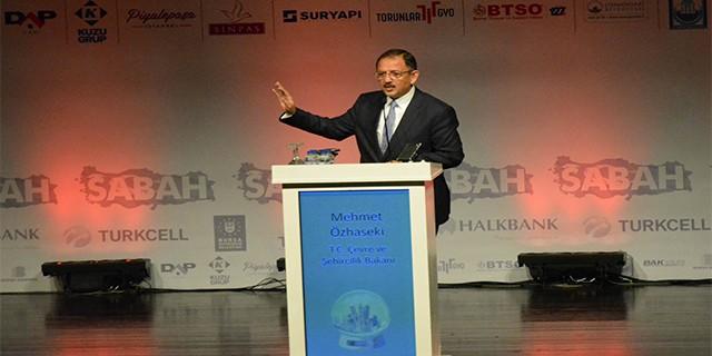 Bakan Özhaseki Bursa'dan seslendi