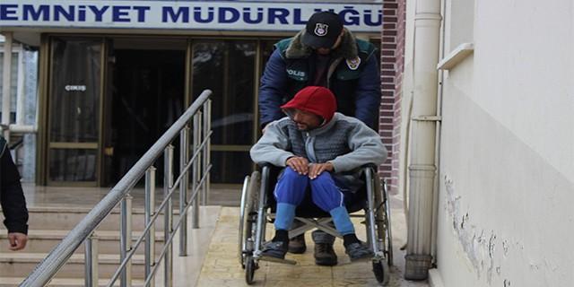 Bursa'da tekerlekli sandalyeli zehir taciri yakalandı