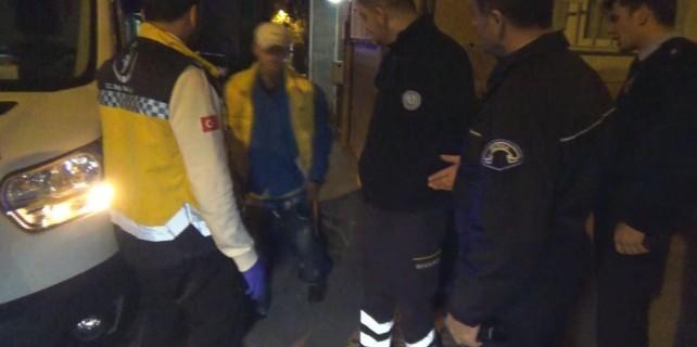 Bursa'da şok kaza... Kazığın üzerine düştü