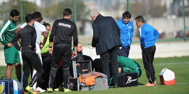 Bursaspor antrenmanında büyük şok