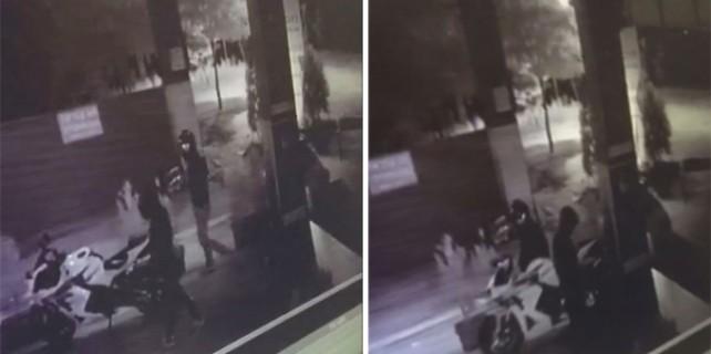 Motosiklet hırsızları kameralara böyle yakalandı..!