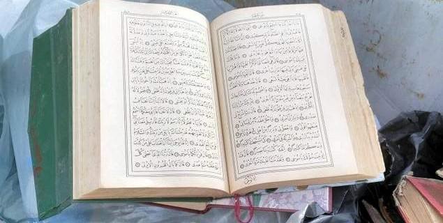 Bursa'da skandal...Kuran-ı Kerim'leri çöpe attılar
