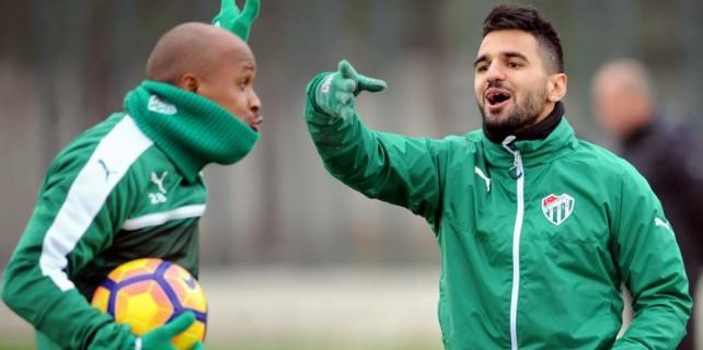 Bursaspor'da keyifli antrenman