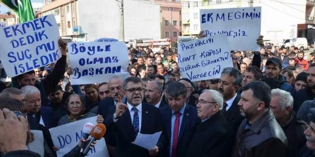 Bursa'da pazarcı isyanı...