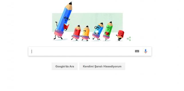 Google öğretmenleri unutmadı