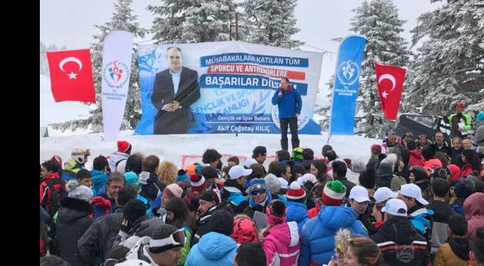Uludağ'da kayak şampiyonası