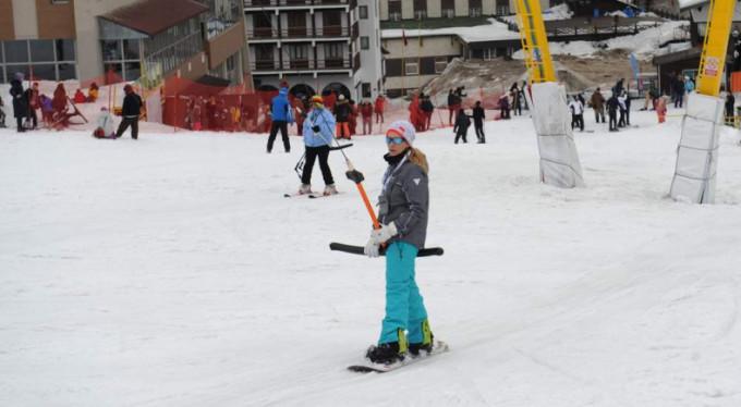 Kar var ancak kayak yapan yok