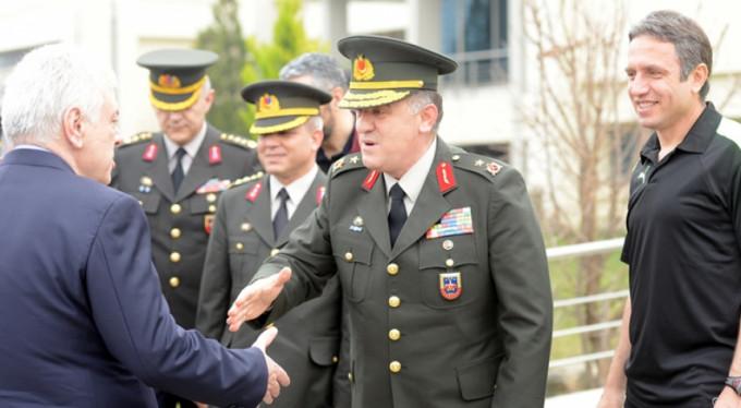 Tuğgeneral Hacıoğlu'ndan ziyaret
