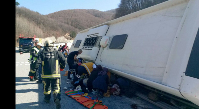 Bursa'da büyük otobüs kazası! 7 ölü var...