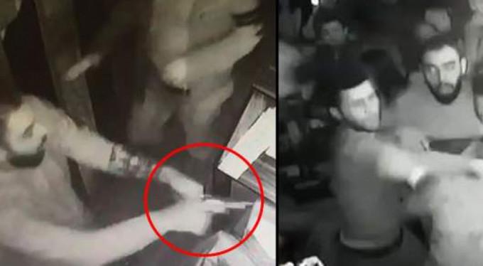 Bursa'da bardaki cinayet anı kamerada