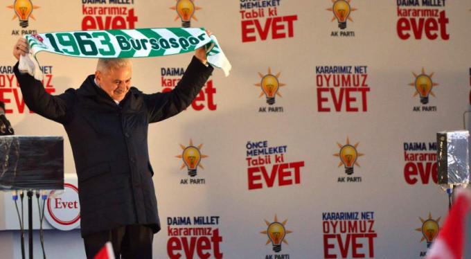 Bursa'da Başbakan coşkusu...