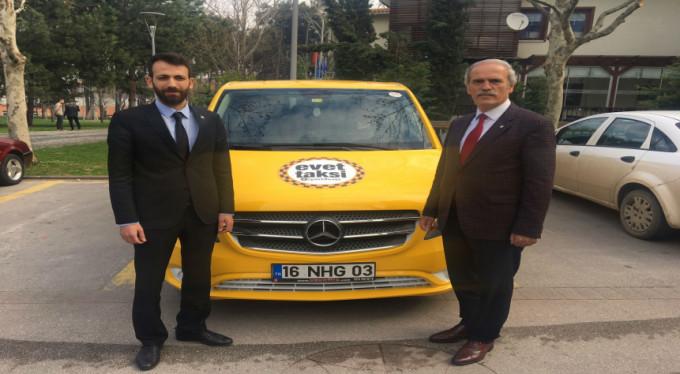 Bu taksi Bursalılara yeni sistemi anlatacak!