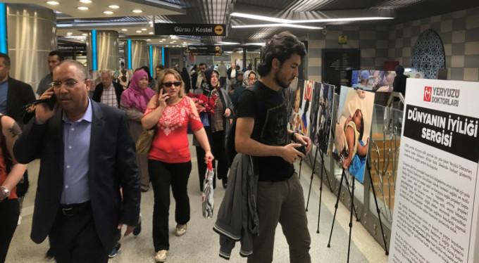 Bursalılara metroda sergi