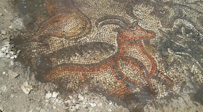 1600 yıllık tarihi mozaik bakın nerede bulundu