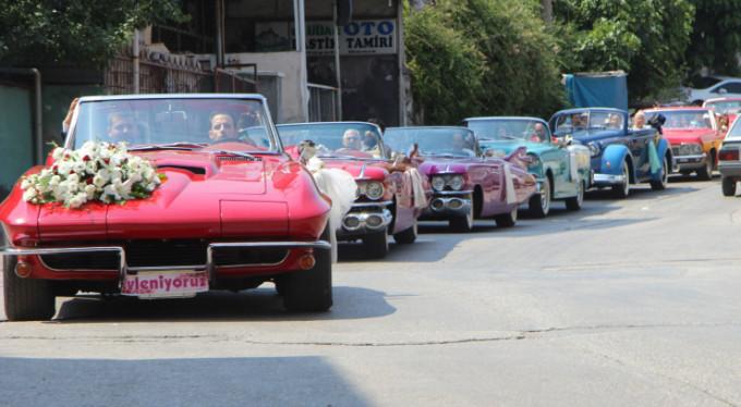 Bursa'da bir garip düğün konvoyu