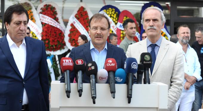 Çavuşoğlu Bursa'da Barzani'ye sert çıktı
