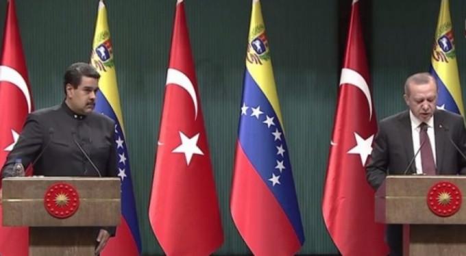 Erdoğan ve Maduro ortak açıklama yaptı