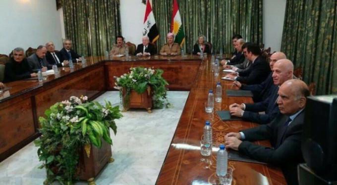 Irak Cumhurbaşkanı, Barzani ile bir araya geldi