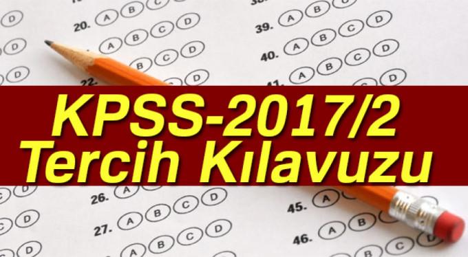 KPSS-2017/2 Tercih Kılavuzu