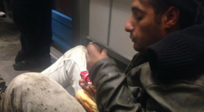 Bursa'da metroda panik anları!