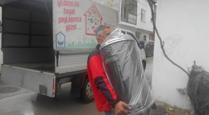 Bursa'da ısıtan yardım