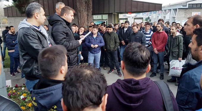 Bursa'da iş bırakma eylemi