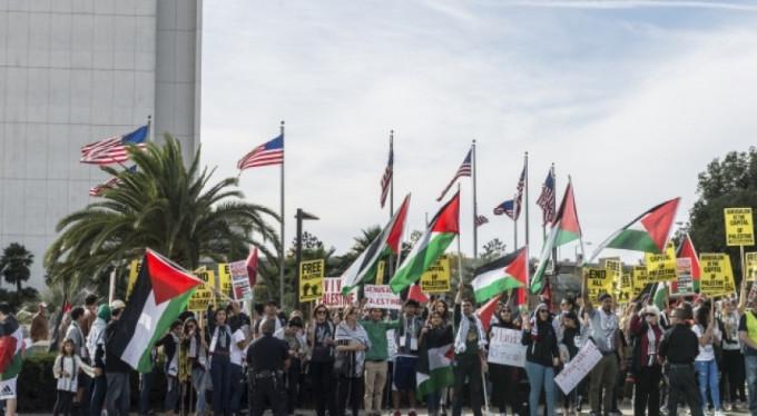 Onlar da Kudüs kararını protesto etti! Burası ABD...