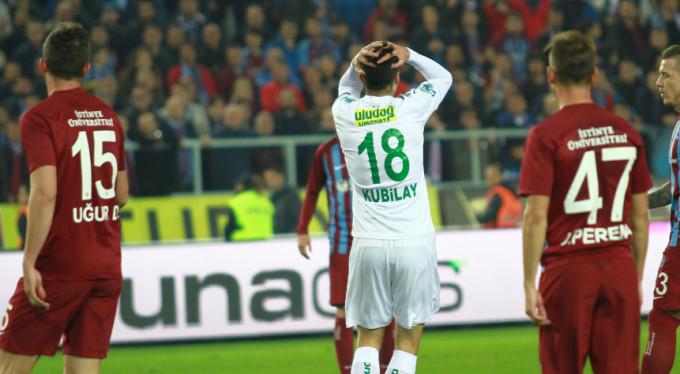 Timsah Trabzon'da kayıp: 1-0