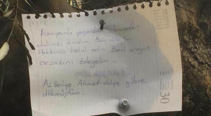 Bursa'yı duygulandıran not