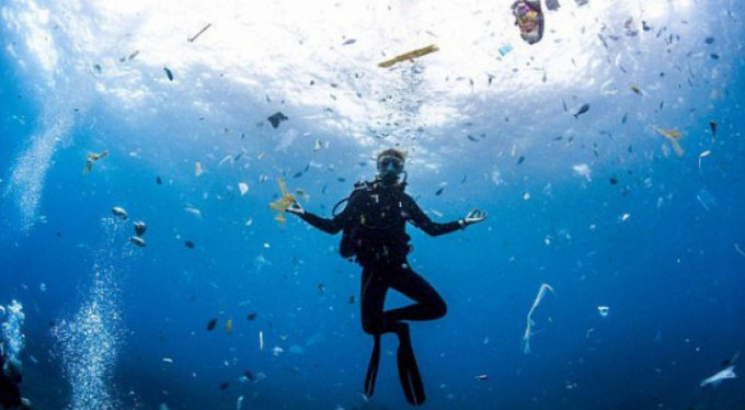 Deniz altındaki çöp kasırgası