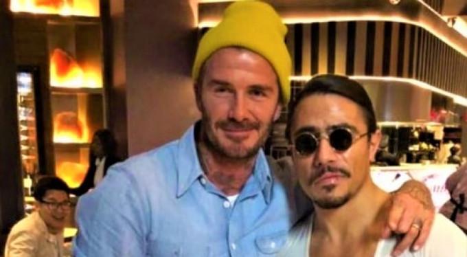 Nusret'in David Beckham'a özel şovu