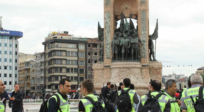 Polis Taksim Anıtı'nı kapattı!