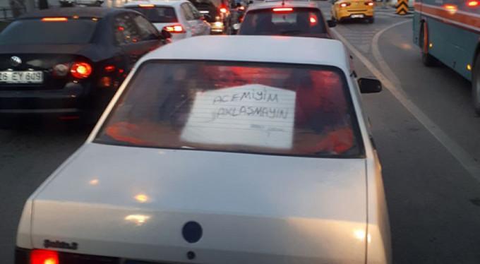Trafikte şaşırtan uyarı!