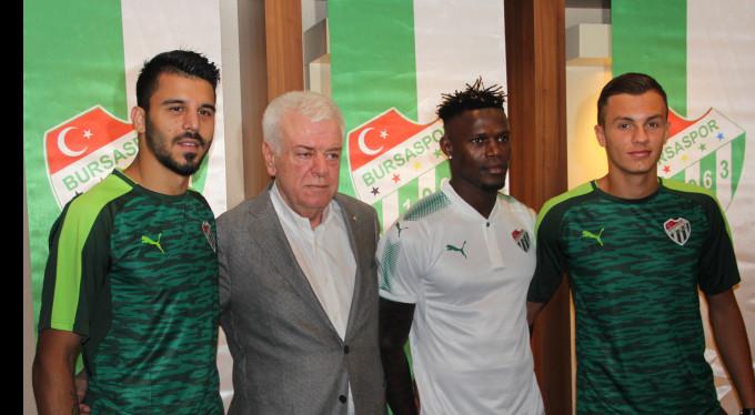 Bursaspor 3 futbolcuyu kadrosuna kattı