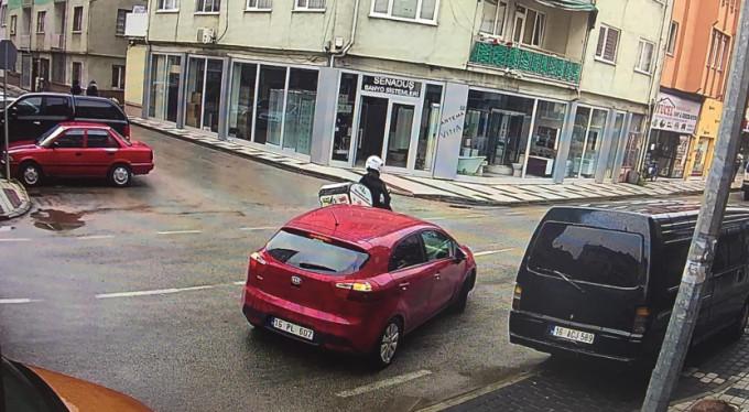 Bursa'daki kaza kamerada!