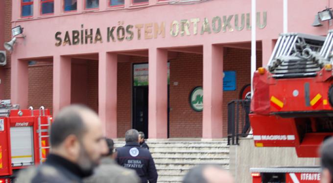 Bursa'da ilkokulda yangın paniği!
