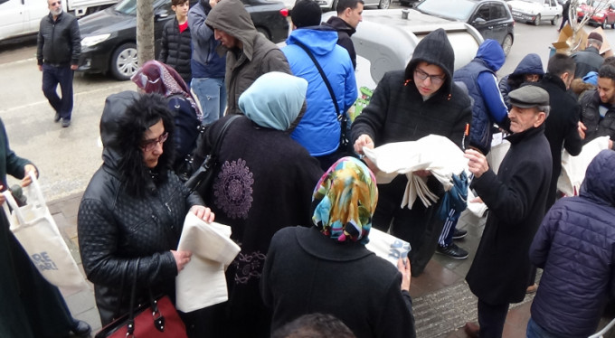 Bursa'da ücretsiz torba!
