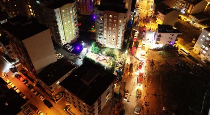 İstanbul'daki helikopterin düşme anı kamerada