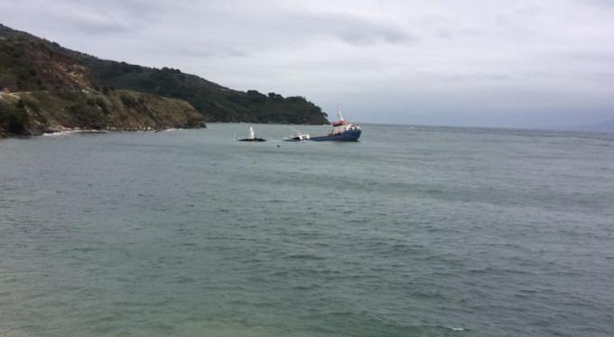 Marmara'da kuru yük gemisi battı!
