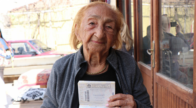 113. yaşını Kapadokya'da kutladı